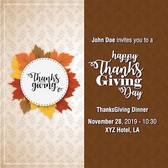 Poster di tipografia del ringraziamento.