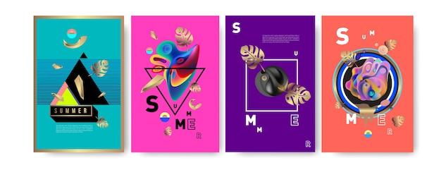 Poster di vacanze estive per la moda e il viaggio