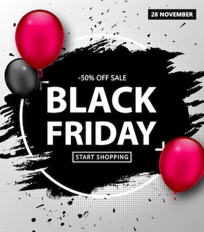 Poster di vendita black friday