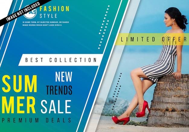 Poster di vendita di moda moderna