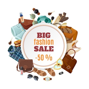 Poster di vendita di moda