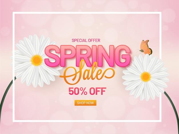 Poster di vendita di primavera o banner design