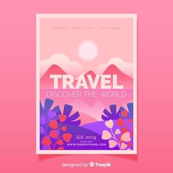 Poster di viaggio sul campo