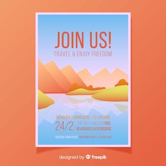 Poster di viaggio sul fiume