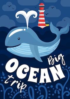 Poster di viaggio sull'oceano
