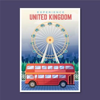 Poster di viaggio vacanza regno unito