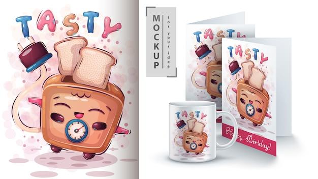Poster e merchandising del pane per tostapane