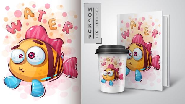 Poster e merchandising di pesci divertenti