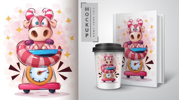 Poster e merchandising di teddy dino