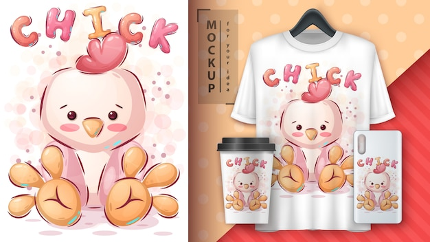 Poster e merchandising di uccelli di pollo