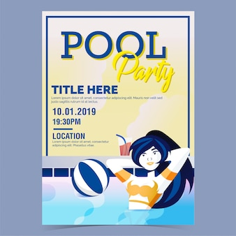 Poster festa in piscina