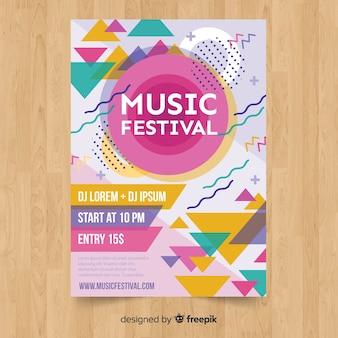 Poster festival di musica colorata