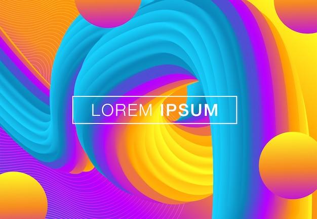 Poster fluido di design creativo
