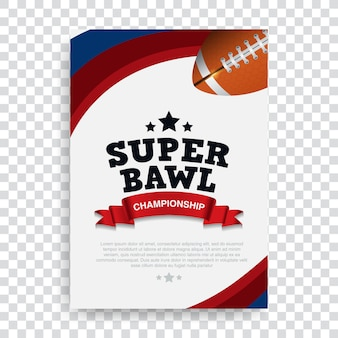 Poster football americano
