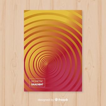 Poster geometrico gradiente