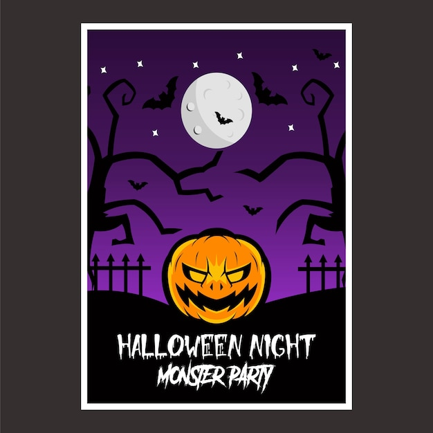 Poster halloween night
