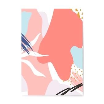 Poster in stile colorato di memphis