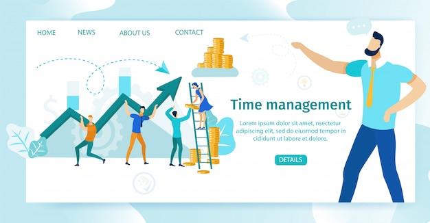 Poster informativo gestione del tempo lettering.