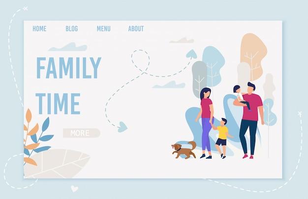 Poster informativo iscrizione family time.