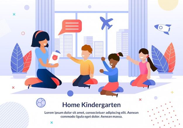 Poster informativo scritto a casa scuola materna.