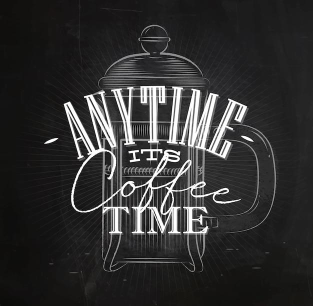 Poster la sua ora del caffè