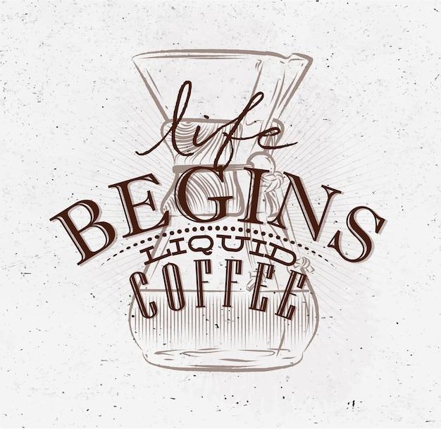 Poster liquido caffè marrone
