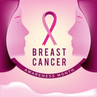 Poster mese di consapevolezza del cancro al seno