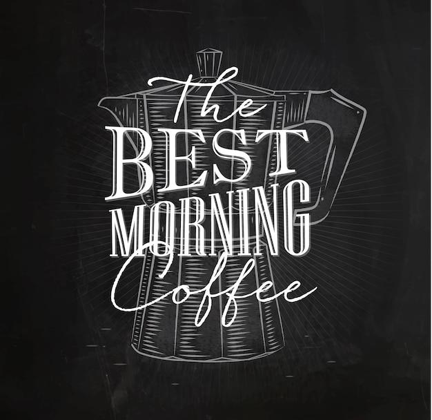 Poster miglior caffè del mattino