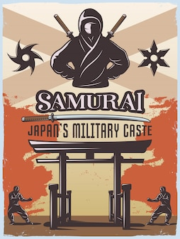 Poster militare samurai