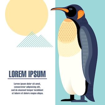 Poster modello con una foto di un pinguino.
