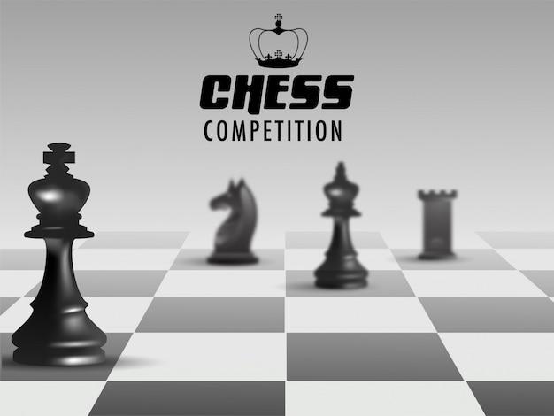 Poster o banner design per la concorrenza di scacchi.