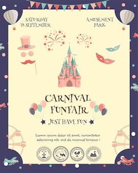 Poster parco divertimenti