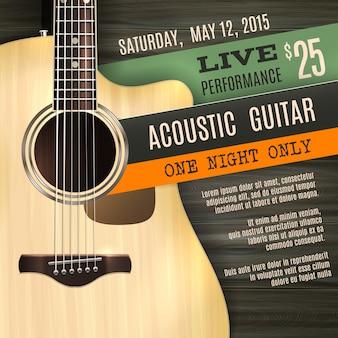 Poster per chitarra acustica