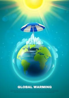Poster per il riscaldamento globale