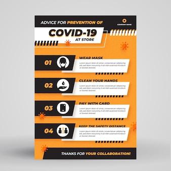 Poster per la prevenzione del coronavirus per i negozi