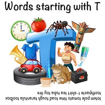 Poster per parole che iniziano con t