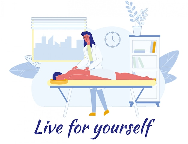 Poster piatto con affermazione live for yourself