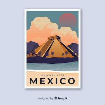 Poster promozionale retrò di un modello di città