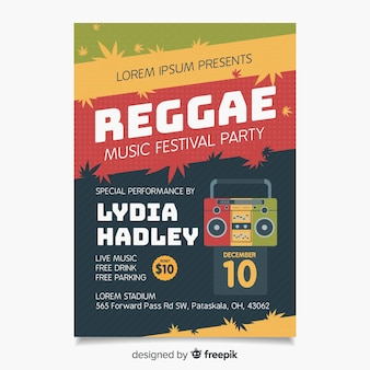 Poster radiofonico reggae