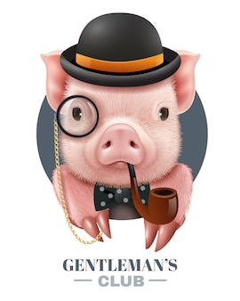Poster realistico del gentlemans club