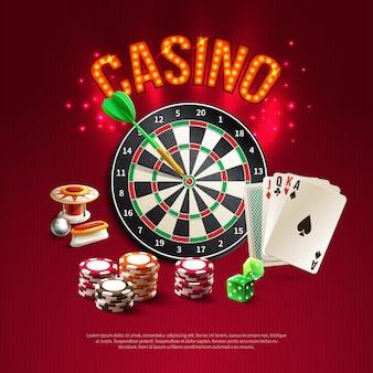 Poster realistico di giochi