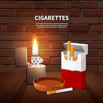 Poster realistico di tabacco