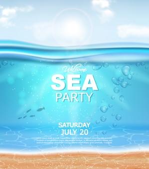 Poster realistico sott'acqua
