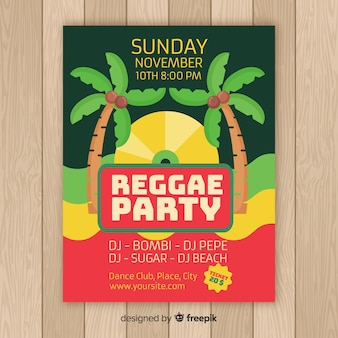 Poster reggae di palme