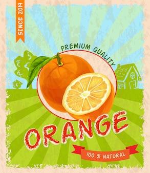 Poster retrò arancione