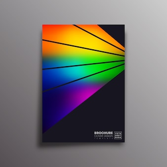 Poster retrò con raggi colorati sfumati