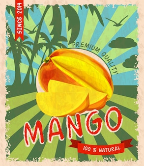 Poster retrò di mango