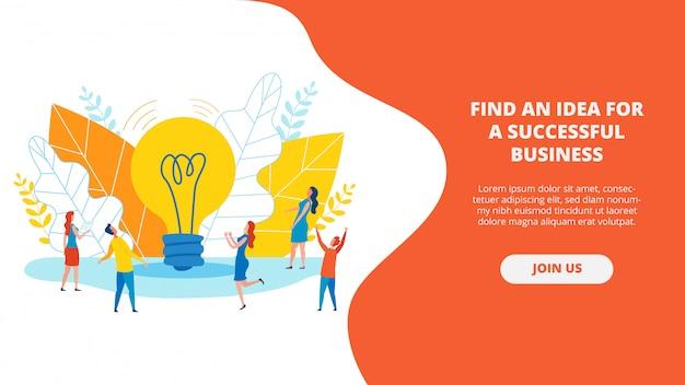 Poster scritto un'idea per un business di successo.