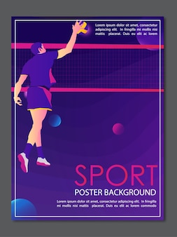 Poster sfondo sport pallavolo creativo moderno