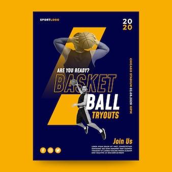 Poster sportivo con foto